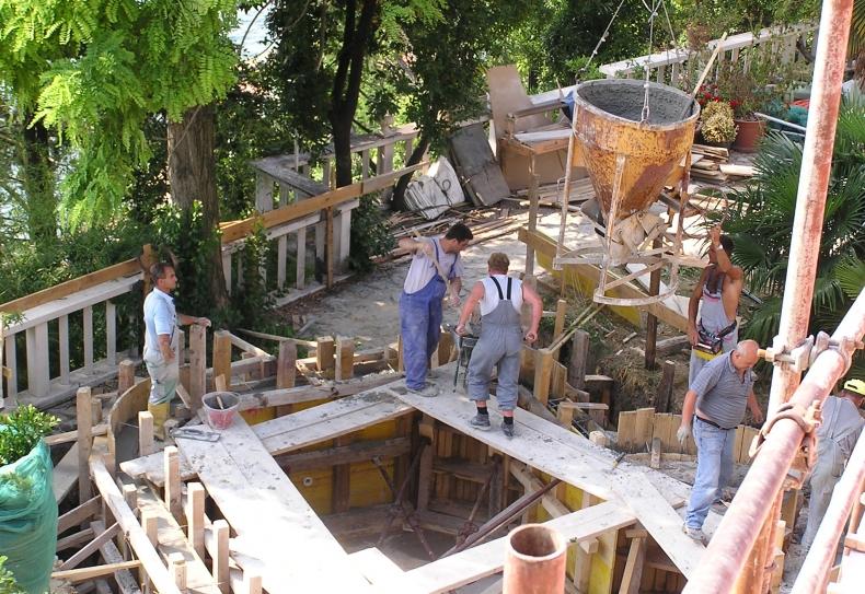 betoniranje sten bazena
