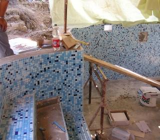 obloga sten s keramičnim mozaikom