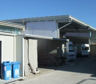 Jeklena konstrukcija hale v Izoli