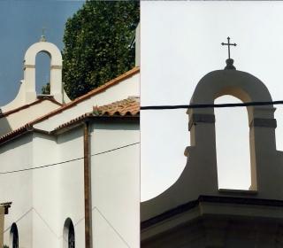 pogled na zvonik z zadnje strani