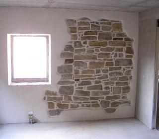 notranji ometi in vidne kamnite stene
